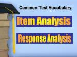 common test vocabulary1