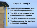 key acs concepts