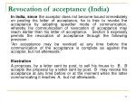 revocation of acceptance india