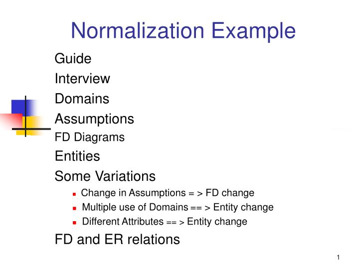 normalization example n.