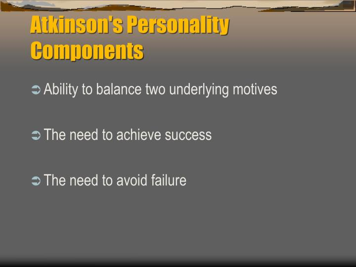 Atkinson's Personality Components