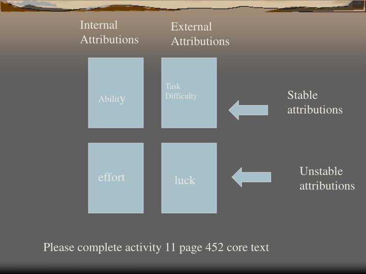 Internal Attributions