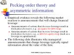 pecking order theory and asymmetric information1