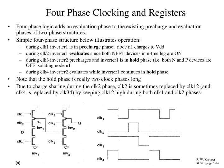 Four Phase Clocking and Registers