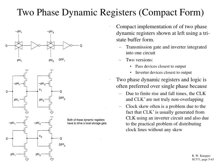 Two Phase Dynamic Registers (Compact Form)
