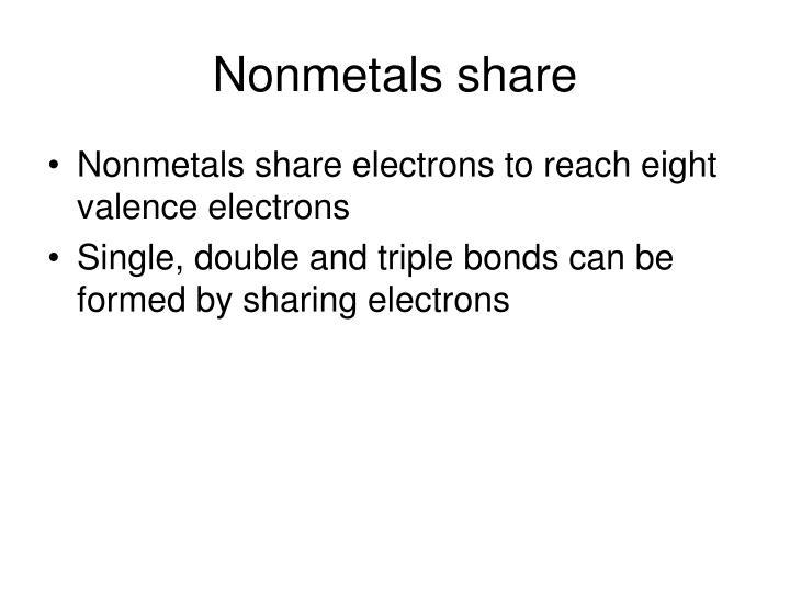 Nonmetals share
