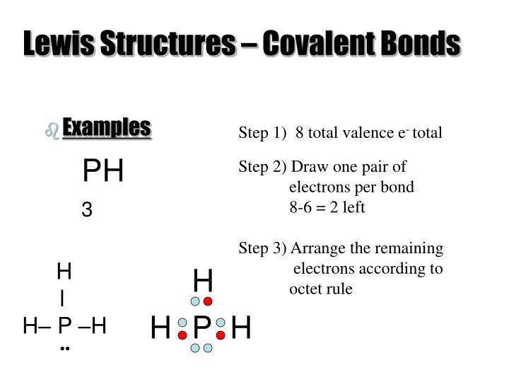 Lewis Structures – Covalent Bonds