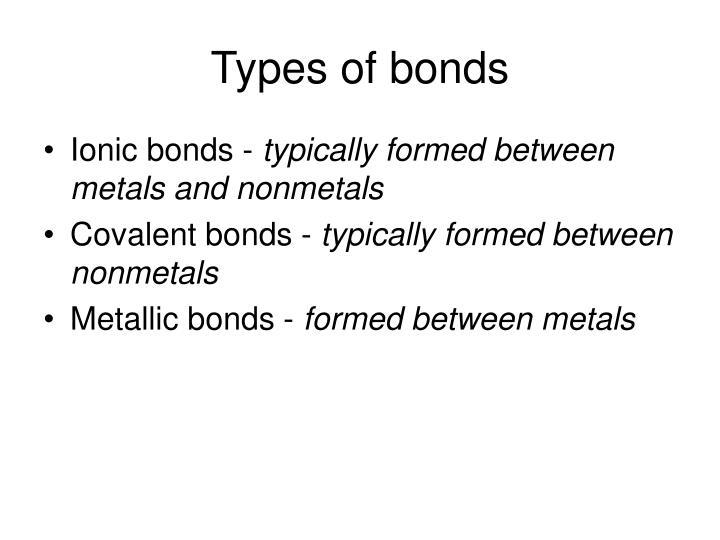 Types of bonds