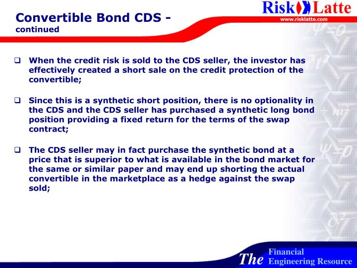 Convertible Bond CDS -