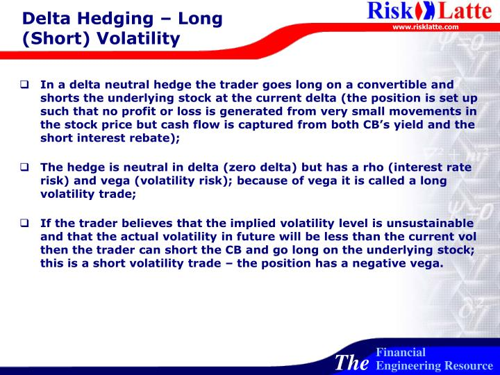 Delta Hedging – Long (Short) Volatility