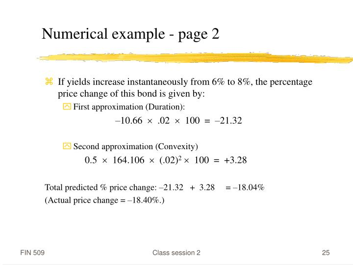 Numerical example - page 2