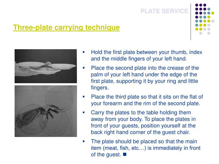 Three-plate carrying technique