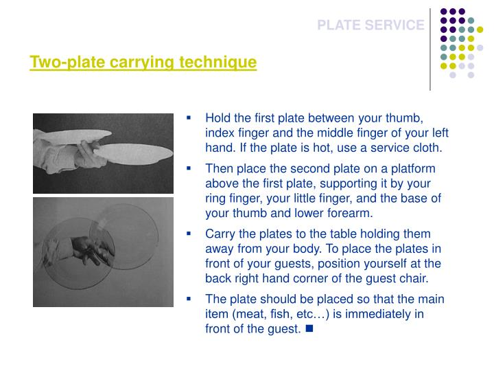 Two-plate carrying technique