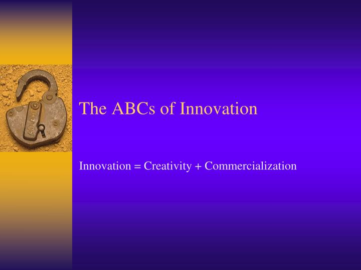 the abcs of innovation n.