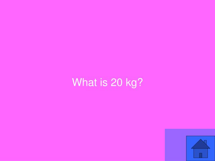 What is 20 kg?
