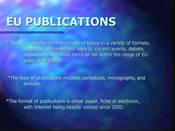 EU PUBLICATIONS