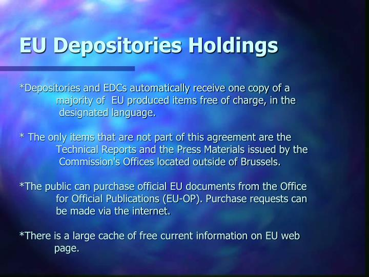 EU Depositories Holdings