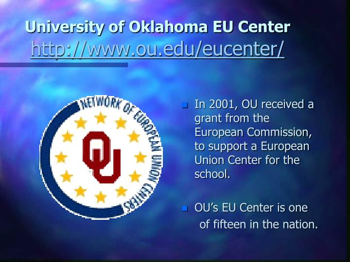 University of Oklahoma EU Center
