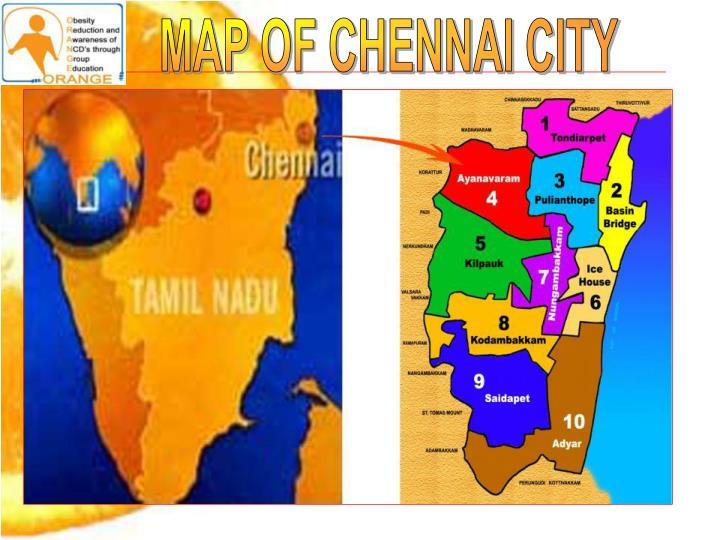 MAP OF CHENNAI CITY