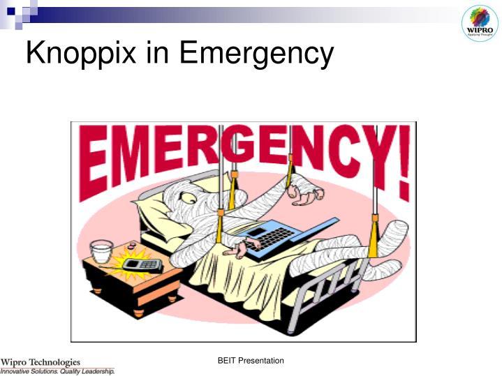 Knoppix in Emergency