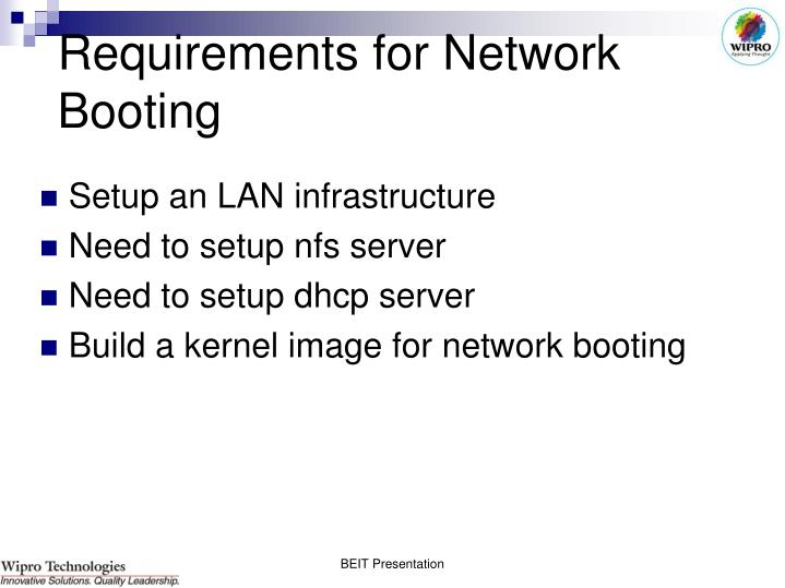 Requirements for Network Booting