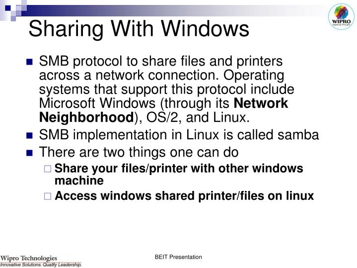 Sharing With Windows