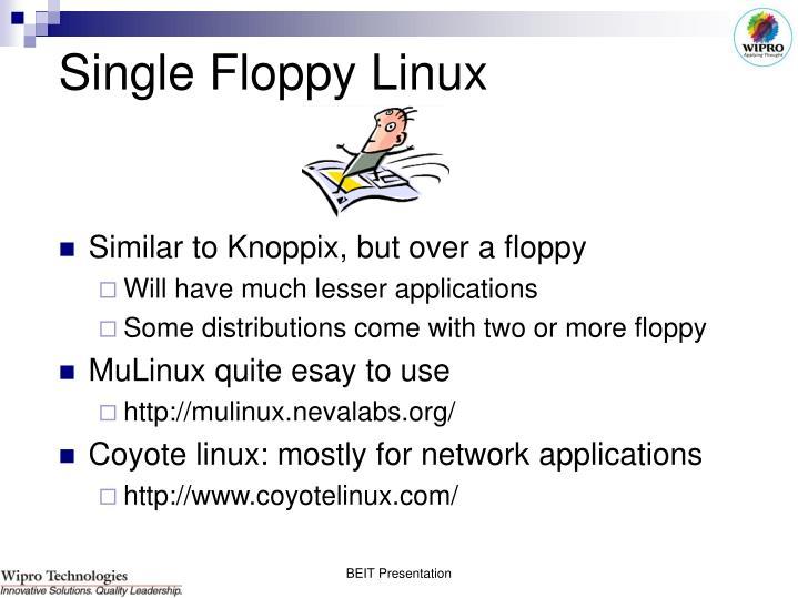 Single Floppy Linux