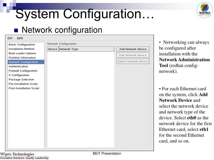 System Configuration…