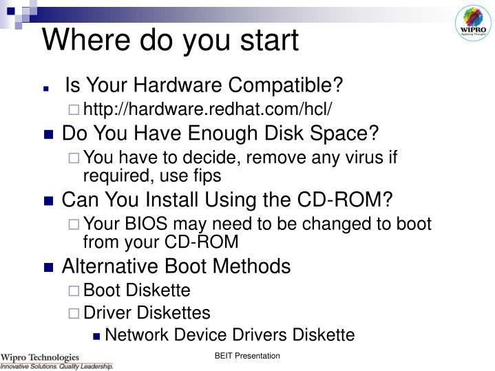 Where do you start