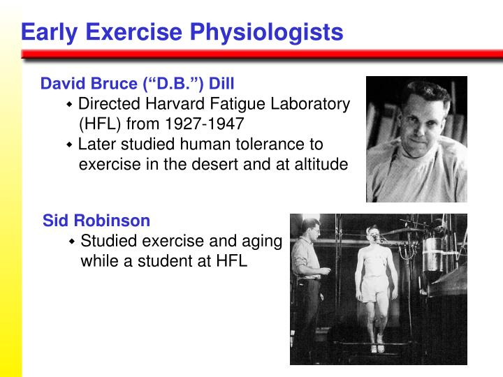 Early Exercise Physiologists