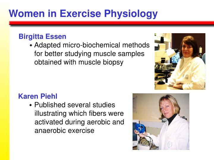 Women in Exercise Physiology