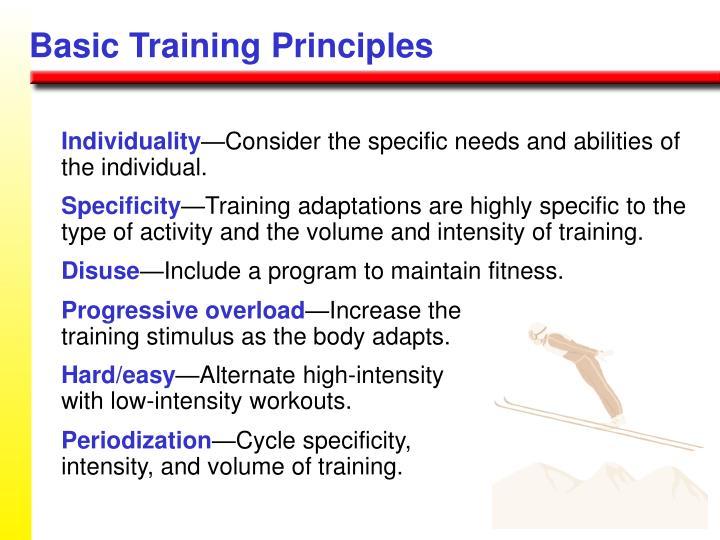 Basic Training Principles
