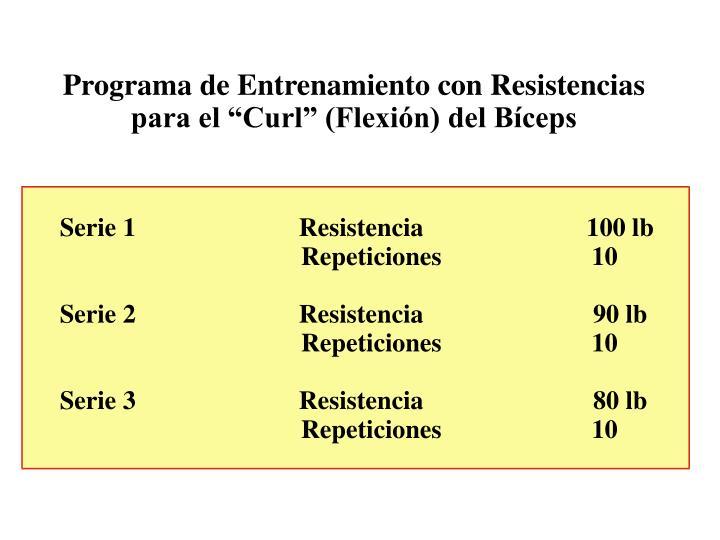 Programa de Entrenamiento con Resistencias
