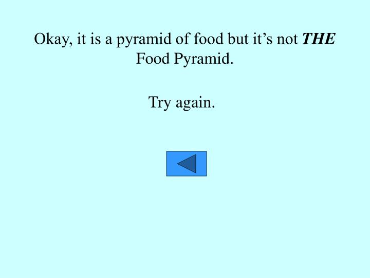 Okay, it is a pyramid of food but it's not