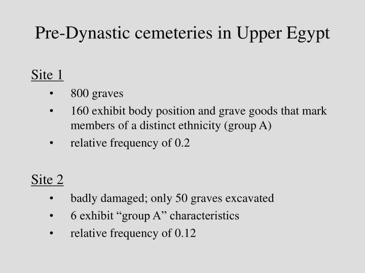 Pre-Dynastic cemeteries in Upper Egypt