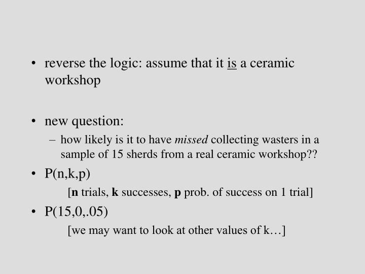 reverse the logic: assume that it