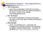 marketplace analysis key players gurus