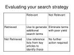 evaluating your search strategy