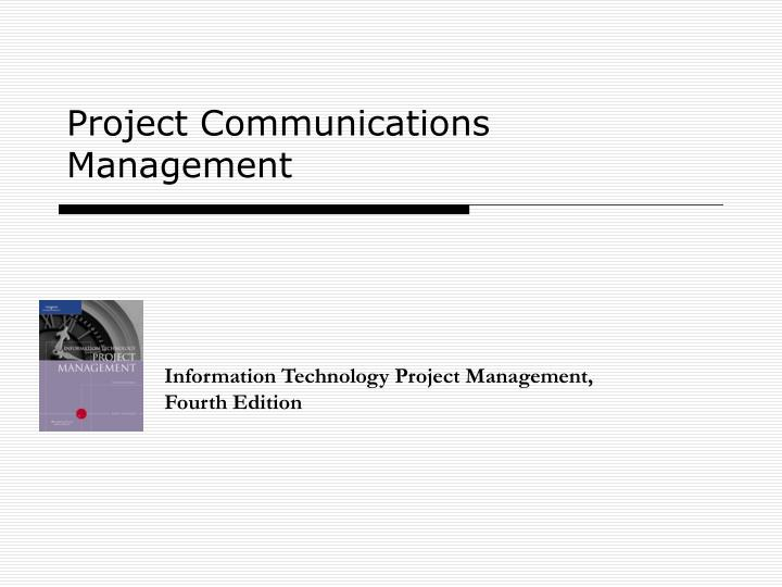 project communications management n.