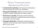 project communications management processes