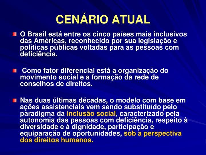 CENÁRIO ATUAL