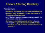 factors affecting reliability1