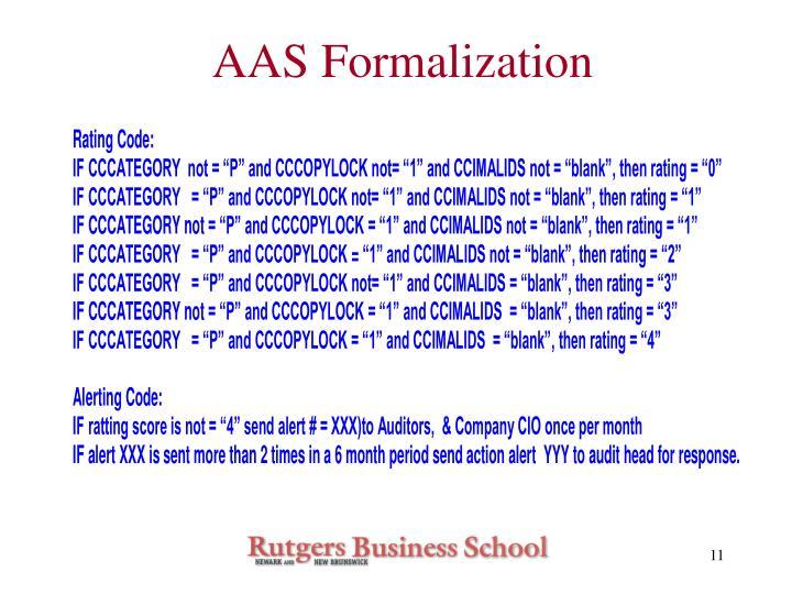 AAS Formalization