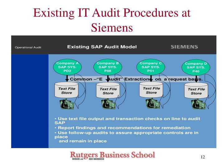 Existing IT Audit Procedures at Siemens