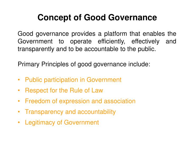 Concept of Good Governance