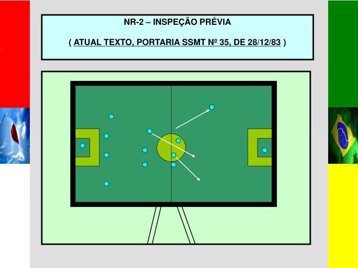NR-2 – INSPEÇÃO PRÉVIA