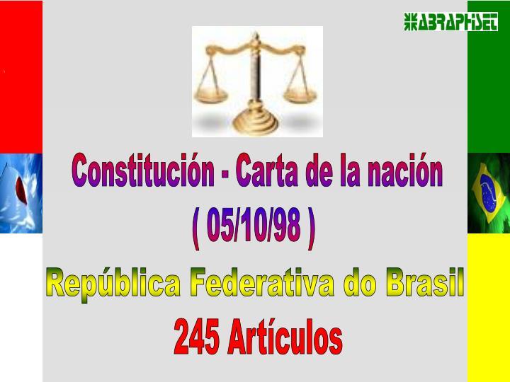 Constitución - Carta de la nación