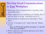 develop good communications in your workplace
