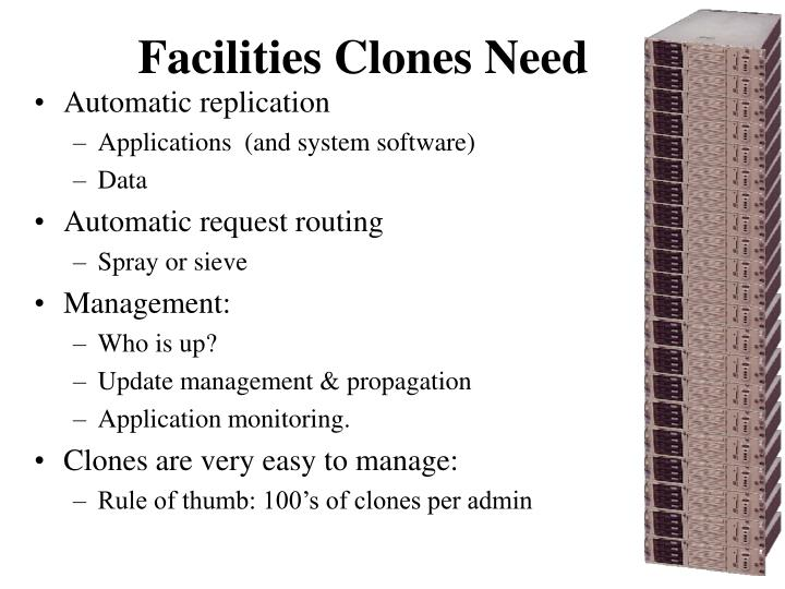 Facilities Clones Need