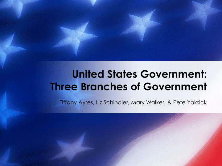 United states government three branches of government